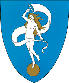 Heraldic Fortuna in the arms of Glückstadt.