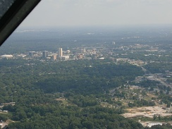 Downtown Greenville from the air