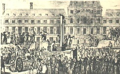 Image of death by guillotine.