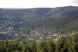 View of the northern Westerwald from the Otto Turm at Herkersdorf/Kirchen