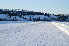 Ice road on Great Slave Lake, Northwest Territories, 2009