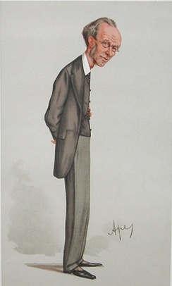 """The Heir of the Ages""Payn as caricatured by Ape (Carlo Pellegrini) in Vanity Fair, 8 September 1888"