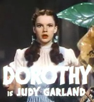 Judy Garland, arguably the most famous gay icon, as Dorothy Gale in The Wizard of Oz (1939)