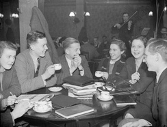 Evacuated King's College London students at the University of Bristol during the Second World War