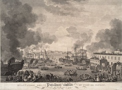 The British evacuation of Toulon in December 1793