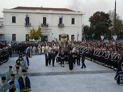 Lity procession on the Feast of Saint Nicholas in Piraeus, Greece.