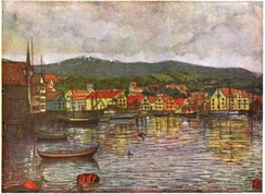 Illustration of Molde, painting by Nico Wilhelm Jungmann, 1904