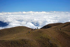 Summit of Mount Pulag, Luzon's highest mountain