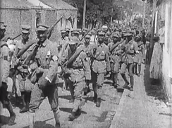 NRA soldiers marching