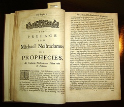 Copy of Garencières' 1672 English translation of the Propheties, located in The P.I. Nixon Medical History Library.
