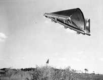 Rogallo's flexible wing, which was tested by NASA as a steerable parachute to retrieve Gemini space capsules and retrieve used rocket stages.
