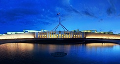 The new Parliament House in Canberra was opened in 1988.