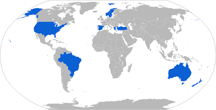 Map with Penguin operators in blue