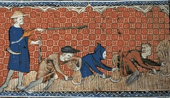 Depiction of socage in feudal England, ca. 1310.