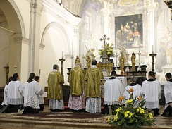 A solemn Mass celebrated in the Ambrosian Rite in the church of its patron, Saint Ambrose, Legnano