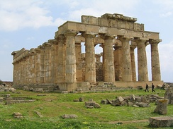 Greek temple of Hera, Selinunte, Sicily.