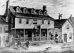 "Tun Tavern, ""birth place"" of the Marine Corps."