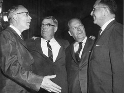 South Dakota's congressional delegation in the 87th U.S. Congress.L-R: Ellis Y. Berry, Joseph H. Bottum, Karl E. Mundt, and Ben Reifel.