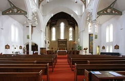 The Interior, a view down the nave.