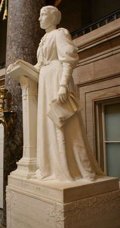 Willard statue on display in the National Statuary Hall of the Capitol Building