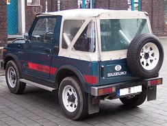 "Suzuki SJ410 - Note the Jeep badge added by the owner on the ""B"" pillar"