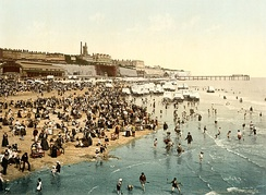 Photochrom of The sands, 1899