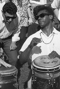 Hand drummers in Berkeley, California, about 1966