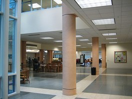 Inside of the Peter J. Shields Library