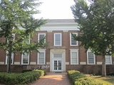 Monroe Hall at the University of Virginia; Monroe once owned the land on which the university sits.
