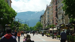 Vitosha Boulevard, the main shopping street in the city