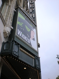 Wicked ran at the Orpheum Theatre in San Francisco for almost two years.