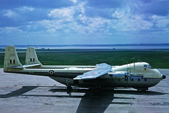 A RAF Armstrong Whitworth Argosy C.1 of the type based at RAF Benson during the 1960s.