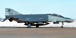 136th FIS McDonnell F-4D Phantom 66-7491 about 1988