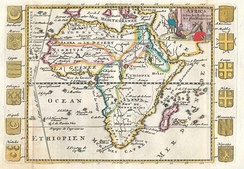 The Aethiopian Ocean in a 1710 French map of Africa