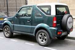 The Jimny Canvas-Top was built in Spain from 1999 to 2009.