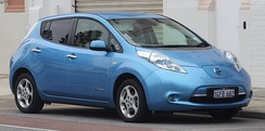 The Nissan Leaf was the first plug-in electric car equipped with Nissan's Vehicle Sound for Pedestrians.