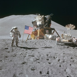 AS15-88-11866 - Apollo 15 flag, rover, LM, Irwin - restoration1.jpg