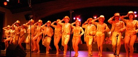 The Broadway musical A Chorus Line was lit using conventional lighting instruments.