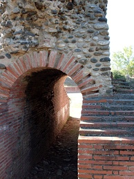 Vomitorium at the Roman amphitheatre in Toulouse