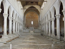 Interior of the Cathedral, with the mosaic pavement.