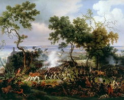 The Battle of Chiclana, 5th March 1811 (1824) captures the fight between British redcoats and the French troops for Barrosa Ridge.[12]