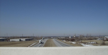 View from the US 68-US 33 interchange at Bellefontaine, near Campbell Hill