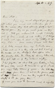 A letter from Charlotte Brontë to her friend, Ellen Nussey[N 1]