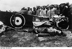 British pilot killed in action, 1917