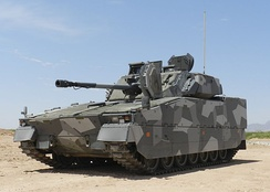 A CV-9035 demonstrator vehicle for the Non-Developmental Vehicle assessment.