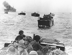 Canadian landings at Juno Beach in the Landing Craft Assault