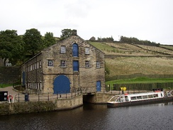 The warehouse that now houses the visitor centre