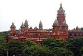 Indo-Saracenic - The Madras High Court from Chennai (Tamil Nadu, India), established 1862