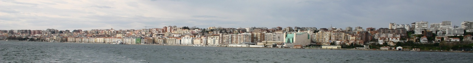 View of the city from the Bay of Santander.