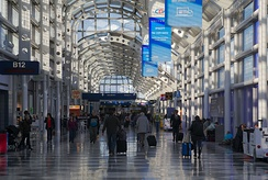 Inside Chicago O'Hare Airport